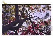 Late Afternoon Tree Silhouette With Bougainvilleas IIi Carry-all Pouch