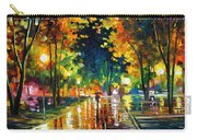 Late Night - Palette Knife Oil Painting On Canvas By Leonid Afremov Carry-all Pouch