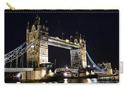 Late Night Tower Bridge Carry-all Pouch by Elena Elisseeva