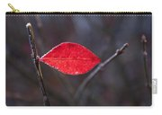 Lateral Red Leaf Carry-all Pouch