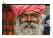 Laughing Indian Man In Turban Carry-all Pouch
