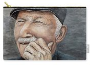 Laughing Old Man Carry-all Pouch