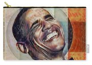 Laughing President Obama V2 Carry-all Pouch