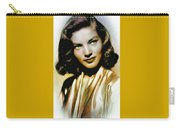 Lauren Bacall - Vintage Painting Carry-all Pouch