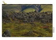 Lava Field And Mountain - Iceland Carry-all Pouch