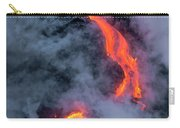 Lava Flowing Into The Ocean 20 Carry-all Pouch by Jim Thompson