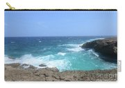 Lava Rock Cliffs And Crashing Ocean Waves In Aruba Carry-all Pouch