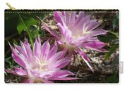 Lavendar Cactus Flowers Carry-all Pouch