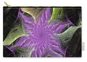 Lavendar Fractal Flower Carry-all Pouch