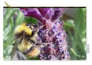 Lavender And Busy Bee. Carry-all Pouch