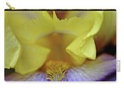 Lavender And Yellow Iris Heart Carry-all Pouch