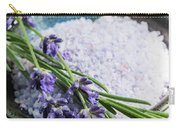 Lavender Bath Salts In Dish Carry-all Pouch