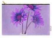 Lavender Chrysanthemum Still Life Carry-all Pouch