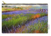 Lavender Field Carry-all Pouch by David Stribbling