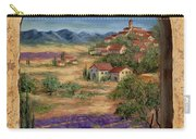 Lavender Fields And Village Of Provence Carry-all Pouch