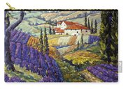 Lavender Fields Tuscan By Prankearts Fine Arts Carry-all Pouch