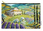 Lavender Hills Tuscany By Prankearts Fine Arts Carry-all Pouch