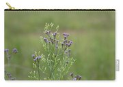 Lavender Purple Verbena Wildflowers  Carry-all Pouch