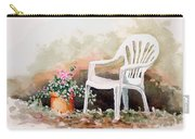 Lawn Chair With Flowers Carry-all Pouch