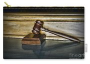 Lawyer - The Judge's Gavel Carry-all Pouch by Paul Ward