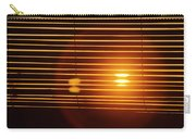 Lazy Summer Afternoon With Sunset View Through The Wooden Window Shades Carry-all Pouch