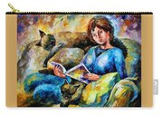Lazy Time - Palette Knife Oil Painting On Canvas By Leonid Afremov Carry-all Pouch