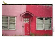 Lazy U Motel - Pink And Red Carry-all Pouch