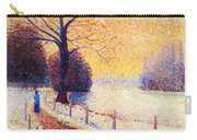 Le Puy In The Snow 1889 Carry-all Pouch