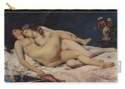 Le Sommeil Carry-all Pouch by Gustave Courbet
