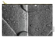 Leaf Dew Drop Number 10 Bw Carry-all Pouch