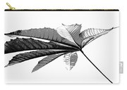 Leaf In Black And White Carry-all Pouch