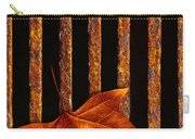 Leaf In Drain Carry-all Pouch by Carlos Caetano
