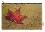 Leaf In The Rain Nature Photograph Carry-all Pouch