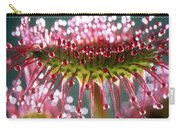 Leaf Of Sundew Carry-all Pouch by Nuridsany et Perennou and Photo Researchers