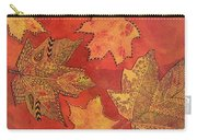 Leaf Prints And Zentangles Carry-all Pouch