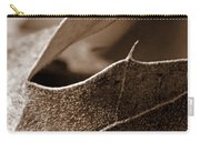 Leaf Study In Sepia II Carry-all Pouch