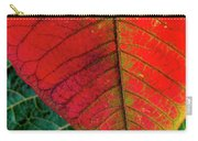 Leafs Macro Carry-all Pouch by Carlos Caetano