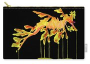Leafy Sea Dragon On Black Carry-all Pouch