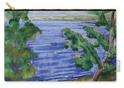 Leaning Tree By Lake Sacandaga Carry-all Pouch