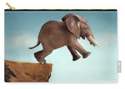 Leap Of Faith Concept Elephant Jumping Into A Void Carry-all Pouch