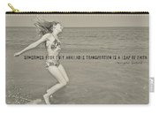 Leap Of Faith Quote Carry-all Pouch