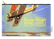 Learn To Fly Vintage Poster Restored Carry-all Pouch