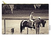 Learning To Ride Sepia Carry-all Pouch