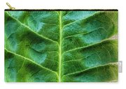 Leather Leaf Carry-all Pouch