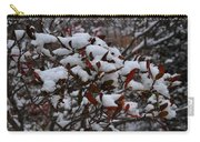 Leaves And Powery Snow Carry-all Pouch