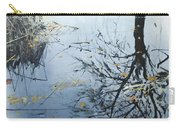 Leaves And Reeds On Tree Reflection Carry-all Pouch