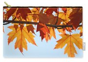 Leaves Autumn Orange Sunlit Fall Leaves Blue Sky Baslee Troutman Carry-all Pouch