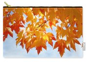 Leaves Nature Art Orange Autumn Tree Leaves Carry-all Pouch