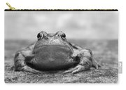 Leaving Home - Black And White Carry-all Pouch