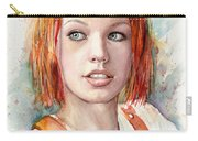 Leeloo Portrait Multipass The Fifth Element Carry-all Pouch by Olga Shvartsur